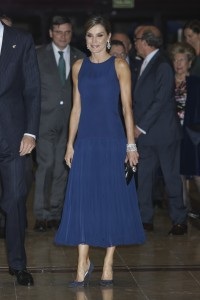 """Queen Letizia during the celebration of the 26th edition of the concert """"Princess of Asturias Awards"""" in Oviedo, on Thursday, October 19, 2017."""